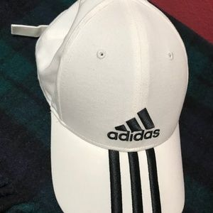 ADIDAS WHITE (with STRIPES) HAT